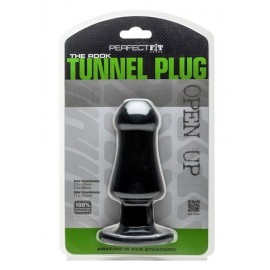Perfect Fit The Rook Black Tunnel Plug anale silicone nero