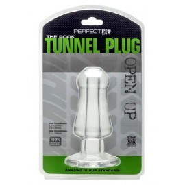 Perfect Fit The Rook Clear Tunnel Plug anale silicone trasparente