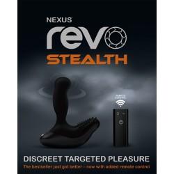 Nexus Revo 3 Stealth Black massaggiatore prostata e il perineo plug anale vibrante vibratore silicone nero