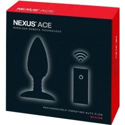 Nexus Ace Vibrating Butt Plug Medium plug dilatatore anale vibrante vibratore silicone nero