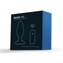 Nexus Ace Vibrating Butt Plug Large plug dilatatore anale vibrante vibratore silicone nero