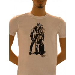 Tom of Finland Whip Boy T-Shirt (Euro Size) White maglietta