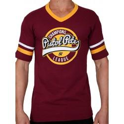 Pistol Pete Champions Short Sleeve Tee T Shirt Red Wine maglietta
