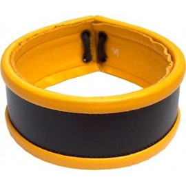 Mister B Armband laced yellow bracciale multiuso per avambraccio polso collo leather pelle