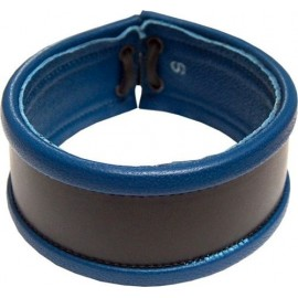 Mister B Armband laced blue bracciale multiuso per avambraccio polso collo leather pelle