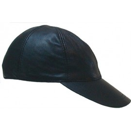 Leather baseballcap