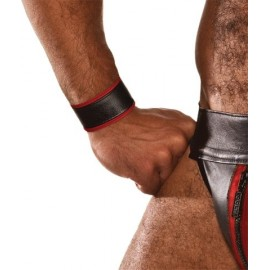 COLT Wristband Black / Red bracciale polso regolabile