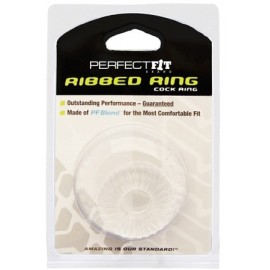 Ribbed Ring Clear cockring estensibile trasparente