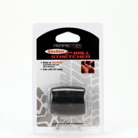 Perfect Fit SilaSkin Ball Stretcher Black silicone
