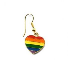 Orecchino cuore rainbow