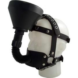 Mister B Refuel Head Harness maschera orinatorio cinghie pelle leather latex