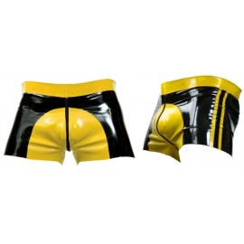 Mister B Rubber Shorts Yellow Saddle calzoncini rubber gomma