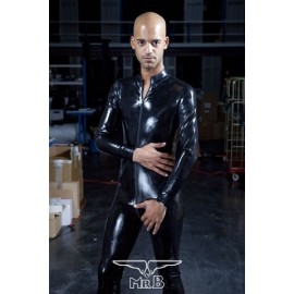Mister B Rubber Full Body Suit With Zip tuta intera rubber gomma con zip