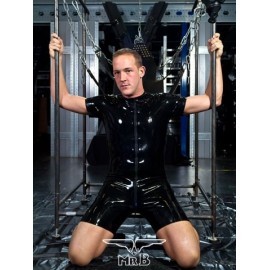 Mister B Rubber Surf Suit With Full Zip tuta shorts completa rubber gomma