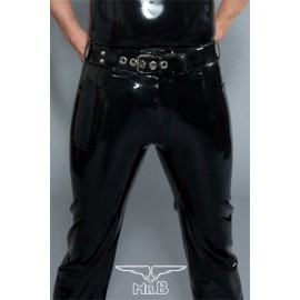 Mister B Rubber Levi Jeans pantaloni jeans rubber gomma