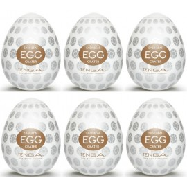 Tenga EGG Crater confezione di 6 uova masturbatori