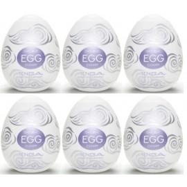Tenga EGG Cloudy confezione di 6 uova masturbatori