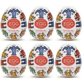 Tenga EGG Keith Haring Dance confezione di 6 uova masturbatori