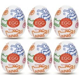 Tenga EGG Keith Haring Street confezione di 6 uova masturbatori