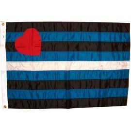 Leather Pride Flag 91,5 x 152,5 cm.