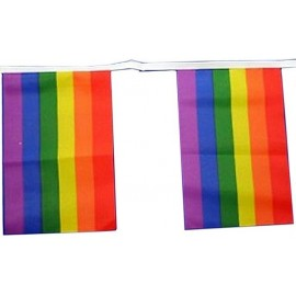 Flag Chain Rainbow 9 mt. Bandiere Gay Pride Rainbow Arcobaleno