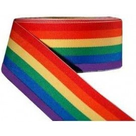 Rainbow Stripe Ribbon 38 mm lungo 100 mt nastro gay pride arcobaleno