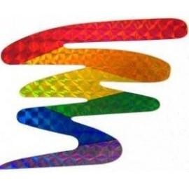Sticker Zigzag 7 x 8 cm Gay Pride Rainbow arcobaleno adesivo