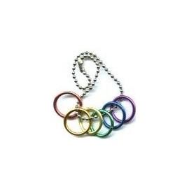 Keychain Rainbow portachiavi sei cerchi gay pride arcobaleno