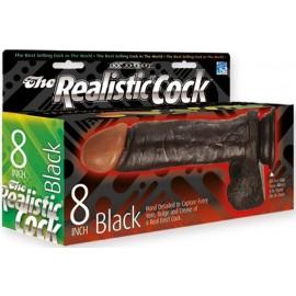 Doc Johnson The Realistic Cock 8 inch Black dildo fallo realistico nero