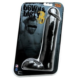 "Wildfire Down & Dirty 8"" Light Dong Black dildo fallo realistico nero"