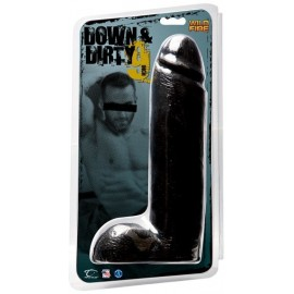 "Wildfire Down & Dirty 4.75"" Light Dong Black dildo fallo realistico nero"