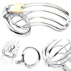 Black Label Male Chastity Device Lancelot Diamond Tube Stainless Steel cintura di castità pene acciaio inox