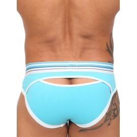 Pistol Pete Blowpop Brief Underwear Aqua slip mini speciale aperto dietro intimo uomo