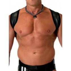665 Leather Neoprene Slingshot Harness Black Black in neoprene