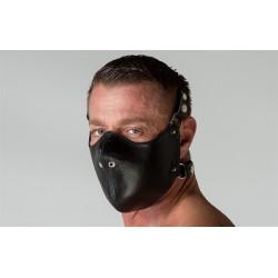665 Leather Mouth Restrictor Black restrizione per bocca a bavaglio in pelle