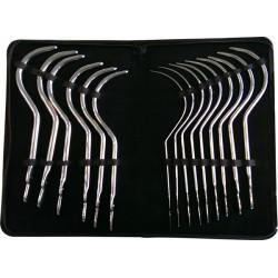 Black Label Guyon Curves 15 Pcs Stainless Steel Sounding Set 8-36 mm. kit di 15 sonde curve dilatatore uretra in acciaio inox