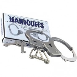 Single Lock Handcuffs manette in metallo
