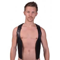 Mister B Muscle Vest  gilet leather pelle