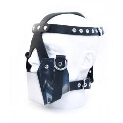Mister B MuzzleMask Metal maschera gag chiusa leather pelle metallo