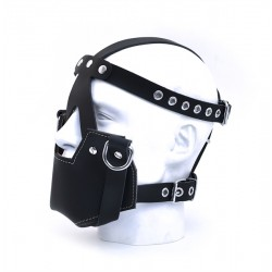 Mister B MuzzleMask Leather maschera gag chiusa pelle