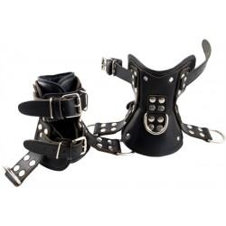 Mister B Premium Ankle Suspension Restraints coppia di restrizioni per caviglie per sospensione leather in pelle