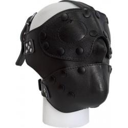 Mister B Mister B Detachable Leather Face Mask maschera multiuso con bende rimovibili