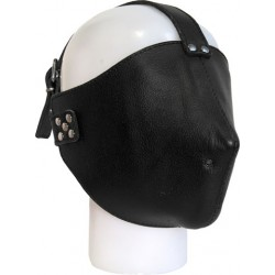 Mister B Mister B Closed Leather Face Mask maschera leather pelle senza alcuna possibilità di vedere nulla
