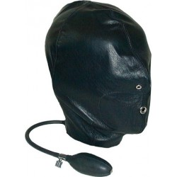 Mister B Mister B Leather Inflatable Hood maschera leather pelle gonfiabile con pompetta