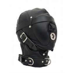 Mister B Heavy Duty Hood maschera complessa pelle leather robusta