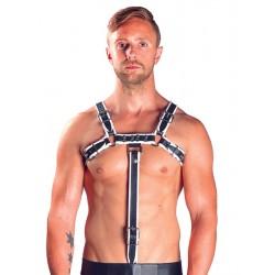 Mister B Extension Strap White estensione per harness leather pelle