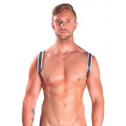 Mister B Sling Harness Premium White leather pelle