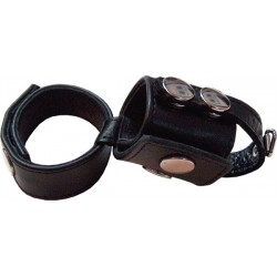 Mister B Double cockstrap with balldivider cockring ball stretcher