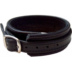 Mister B Cockstrap With Buckle cocking leather pelle con fibbia