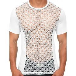 Pistol Pete Zenith S Sleeve Tee T-Shirt White maglietta retata e forata